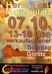 Plakat Herbstfest 2018 - Verkaufsoffener Sonntag