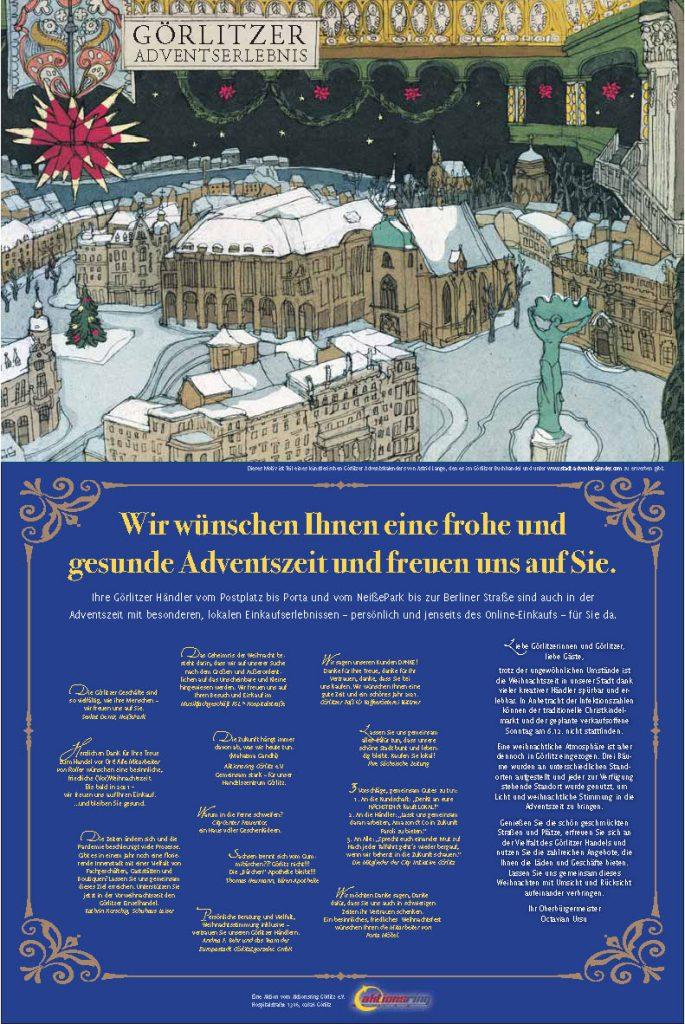 Anzeigenkampagne Aktionsring Görlitz - 02. Dezember 2020